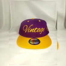 Load image into Gallery viewer, Vintage SnapBack Hat Purple and Gold