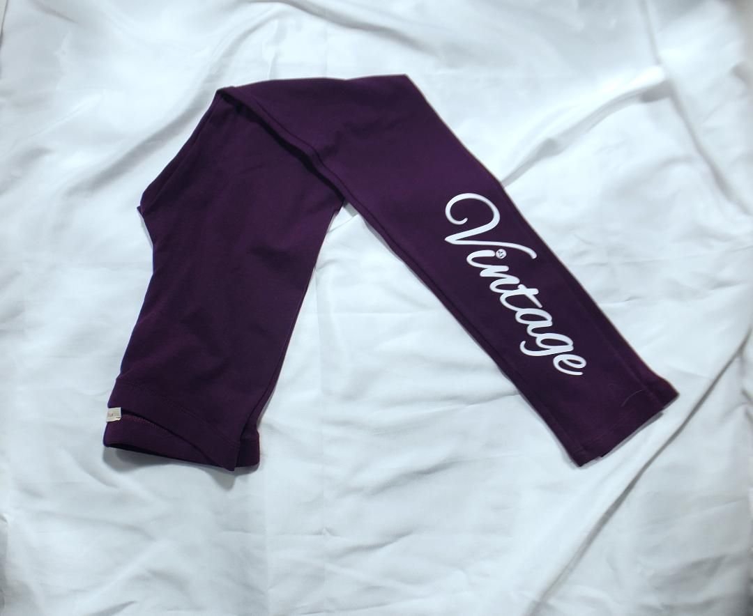 Vintage Leggings (Purple) (CLEARANCE)