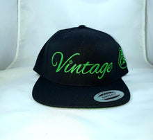 Load image into Gallery viewer, Vintage SnapBack Hat Black and Kelly Green