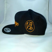 Load image into Gallery viewer, Vintage SnapBack Hat Black & Orange