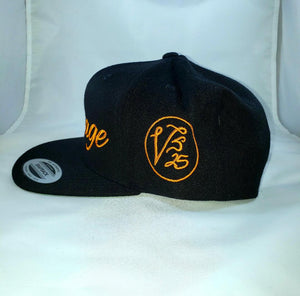 Vintage SnapBack Hat Black & Orange