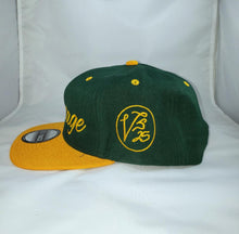 Load image into Gallery viewer, Vintage SnapBack Hat Forrest Green and Yellow Gold