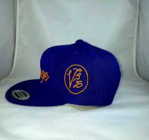 Vintage SnapBack Hat Royal Blue & Orange