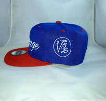Load image into Gallery viewer, Vintage SnapBack Hat Royal Blue, White & Cherry Red