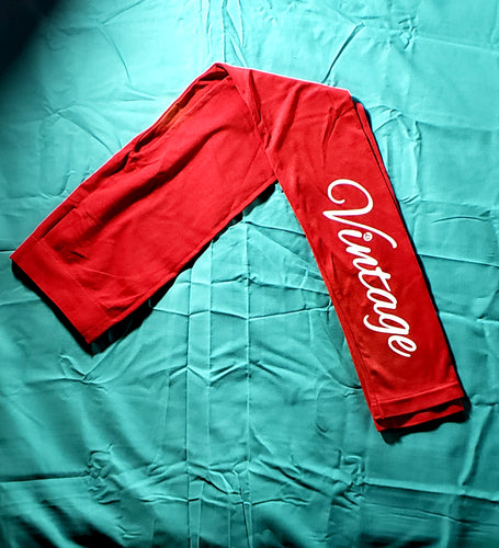 Vintage Leggings (Red) (CLEARANCE)