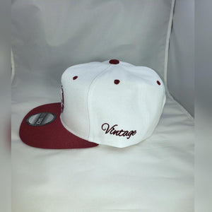 "Vintage ""Pat, I will like to buy a vowel"" White and Burgundy Unisex Snapback"