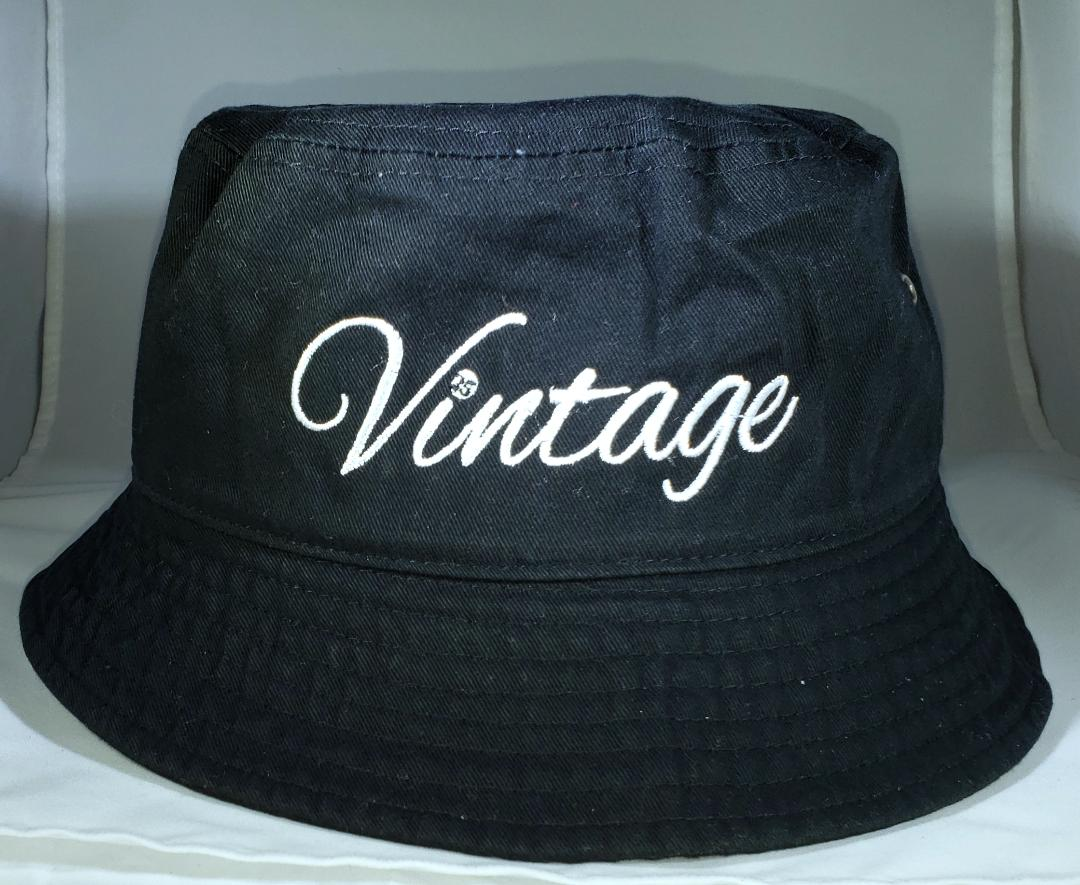 Vintage Bucket Hat Black