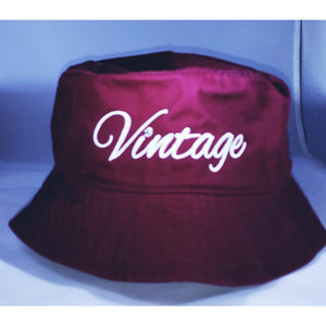 Vintage Bucket Hat Burgundy