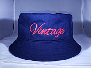 Vintage Bucket Hat Navy