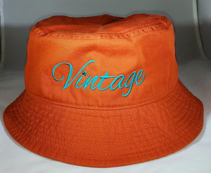 Vintage Bucket Hat Orange