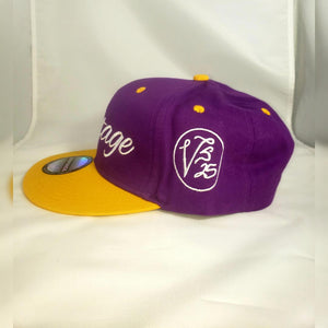 Vintage SnapBack Hat Purple White and Gold