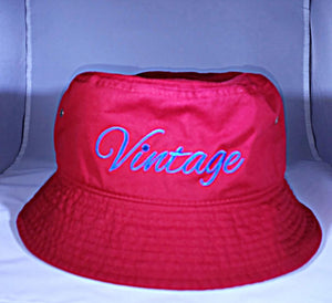 Vintage Bucket Hat Red