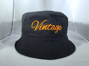 Vintage Bucket Hat Black (2)