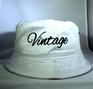 Vintage Bucket Hat White