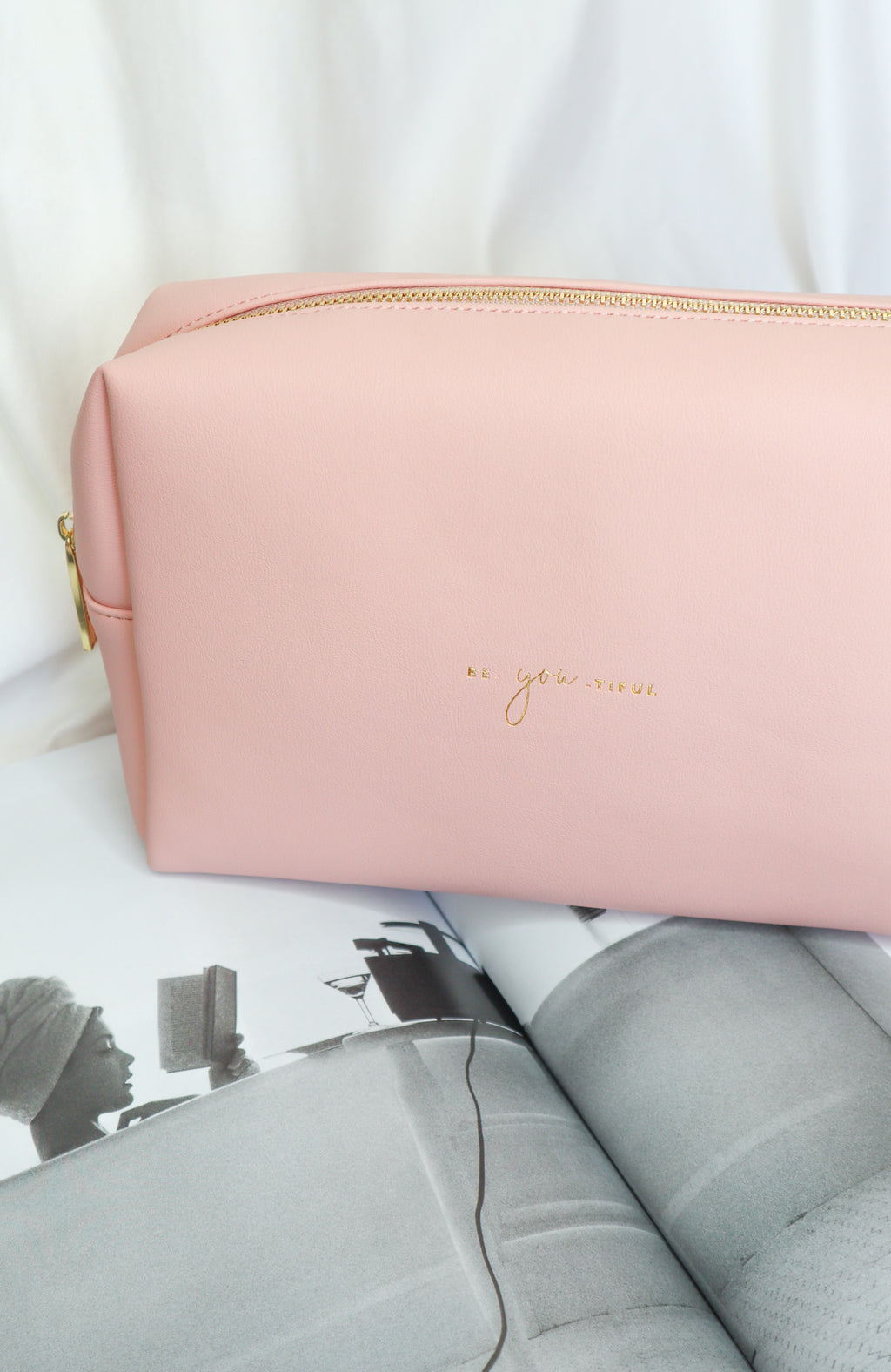 Be-You-Tiful Large Pale Pink Bag