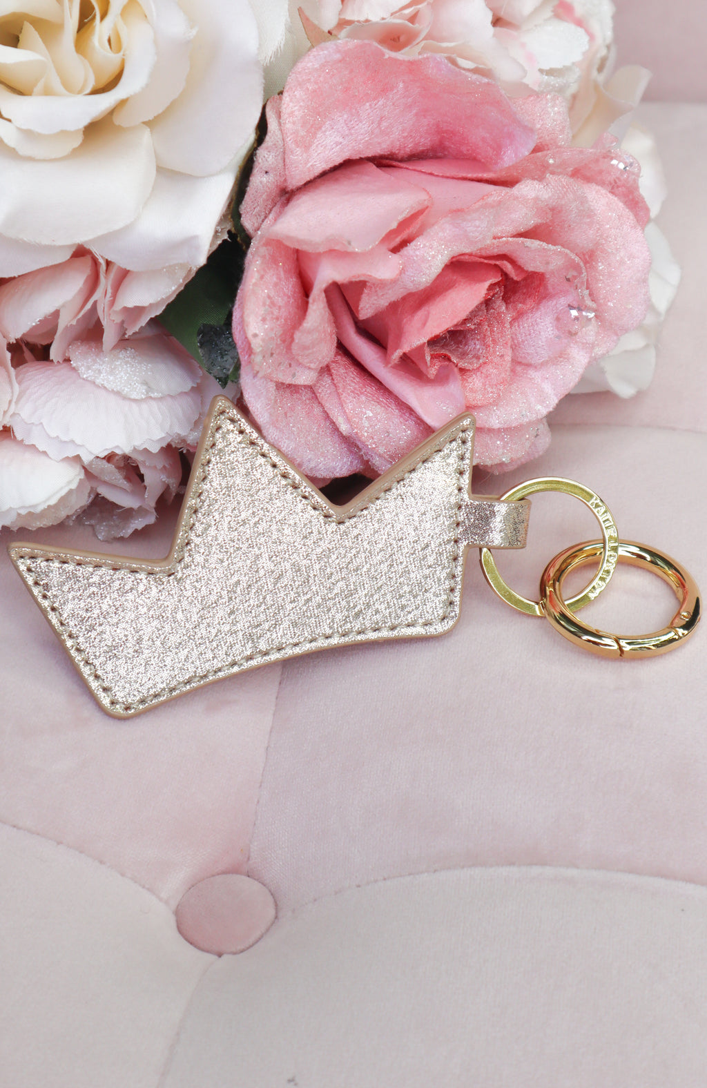 Queen of Luxe Crown Keychain