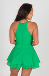 Two Words Tiered Green Romper
