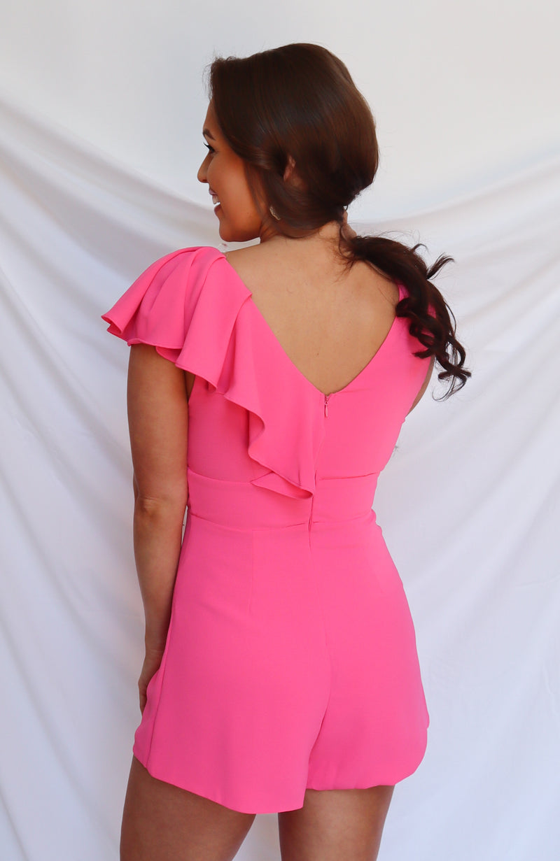 Fly Pink Ruffle Romper