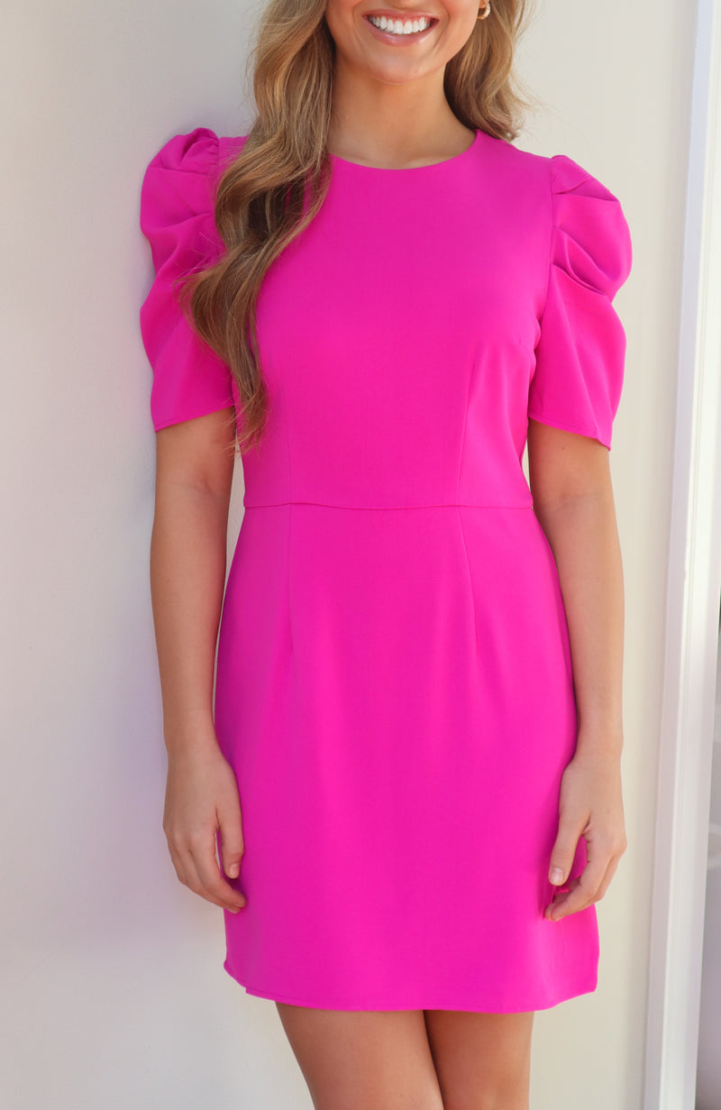 She Has It All Magenta Dress