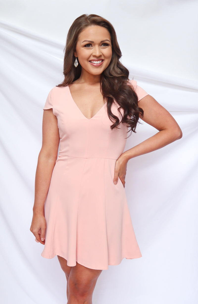 The Most Loved Girl Light Pink Skater Dress
