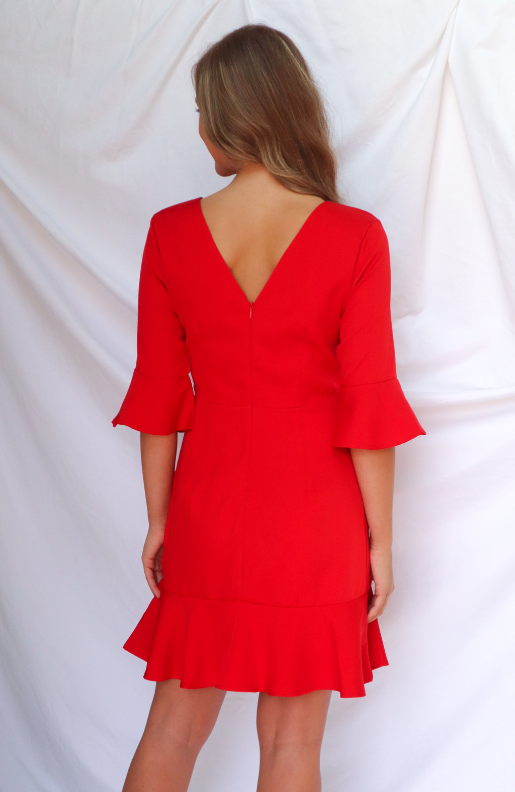 Remember Me Red Long Sleeve Dress