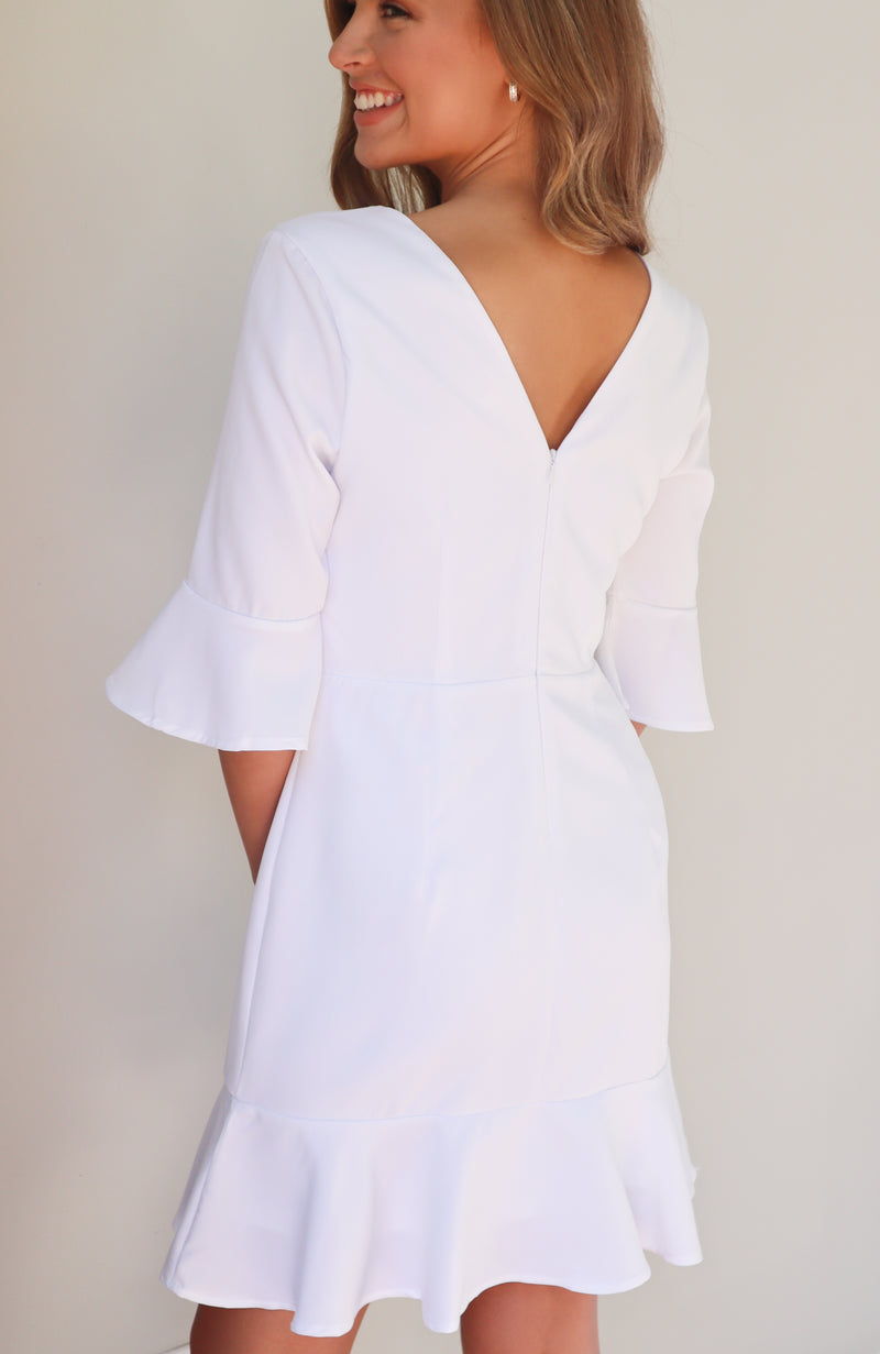 Remember Me White Long Sleeve Dress