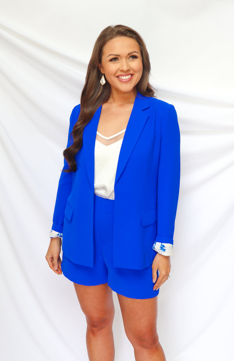 Make A Name Ultra Blue Blazer Set