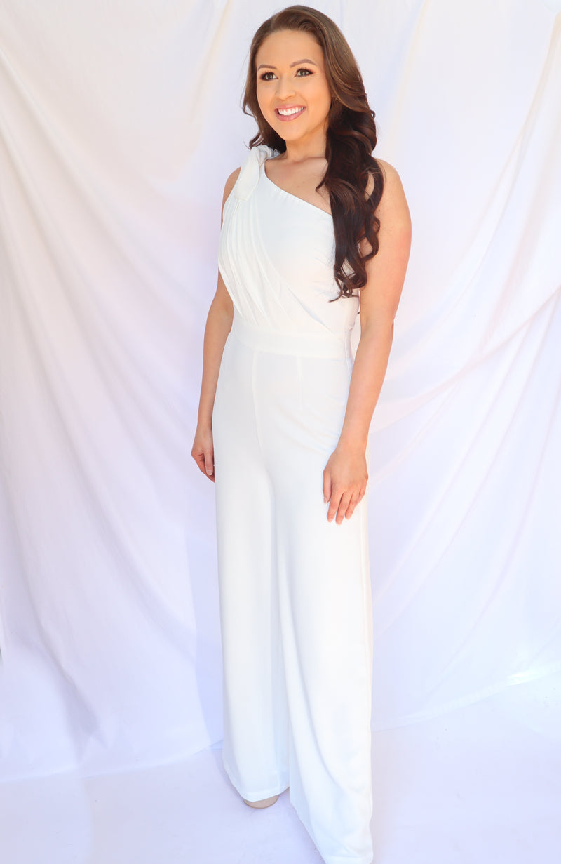 Against It All White Jumpsuit