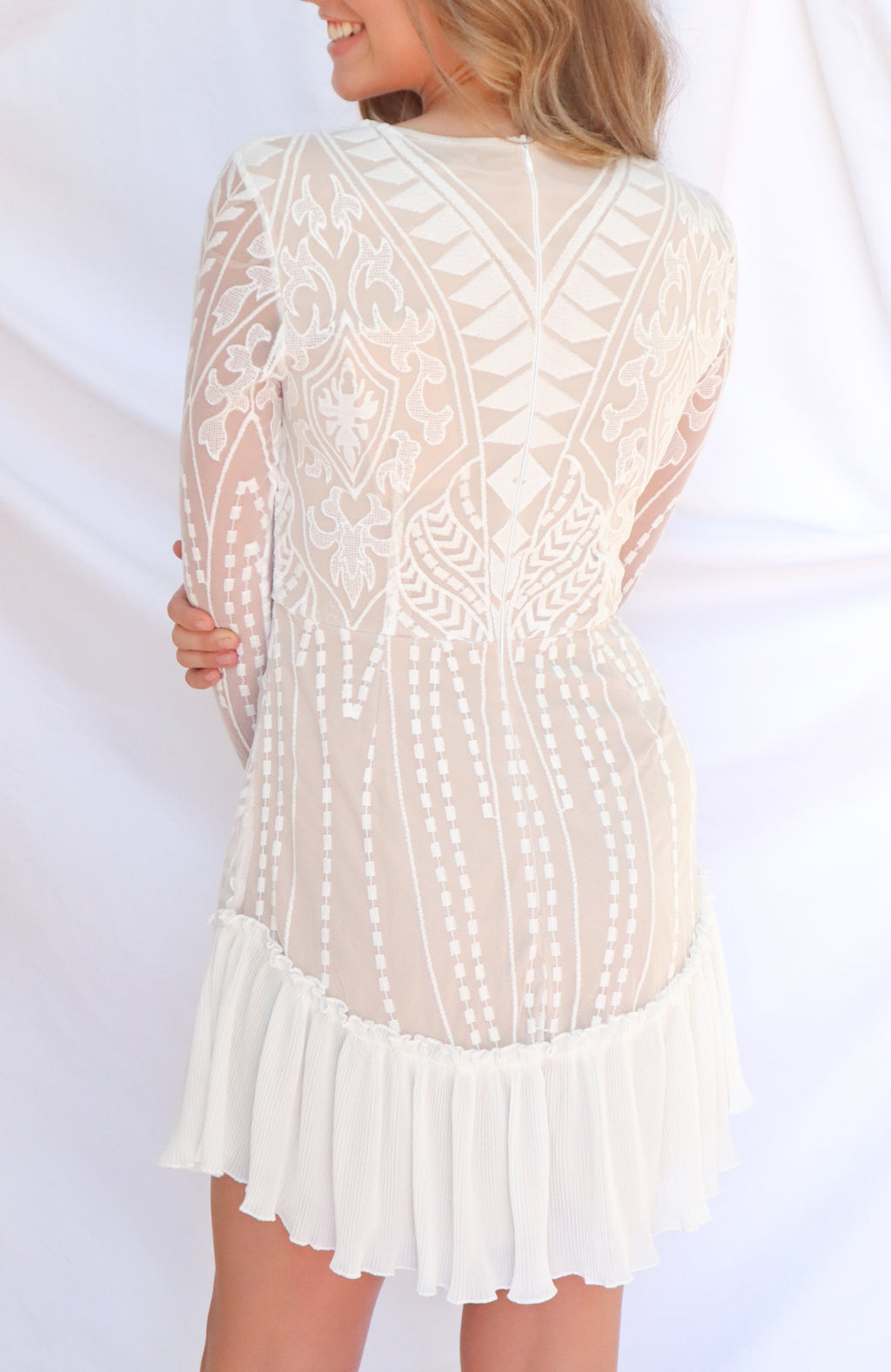 Me & You White Lace Dress