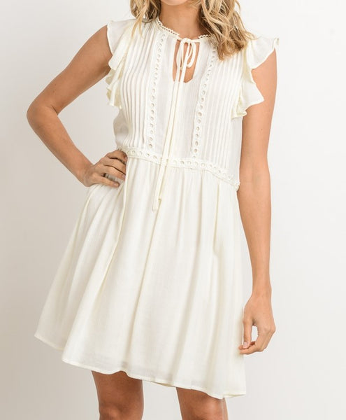 Show Me Your Ruffles Ivory Dress