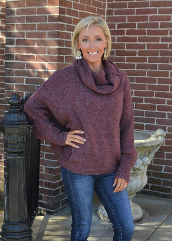 Cozy up Cowl Neck Sweater