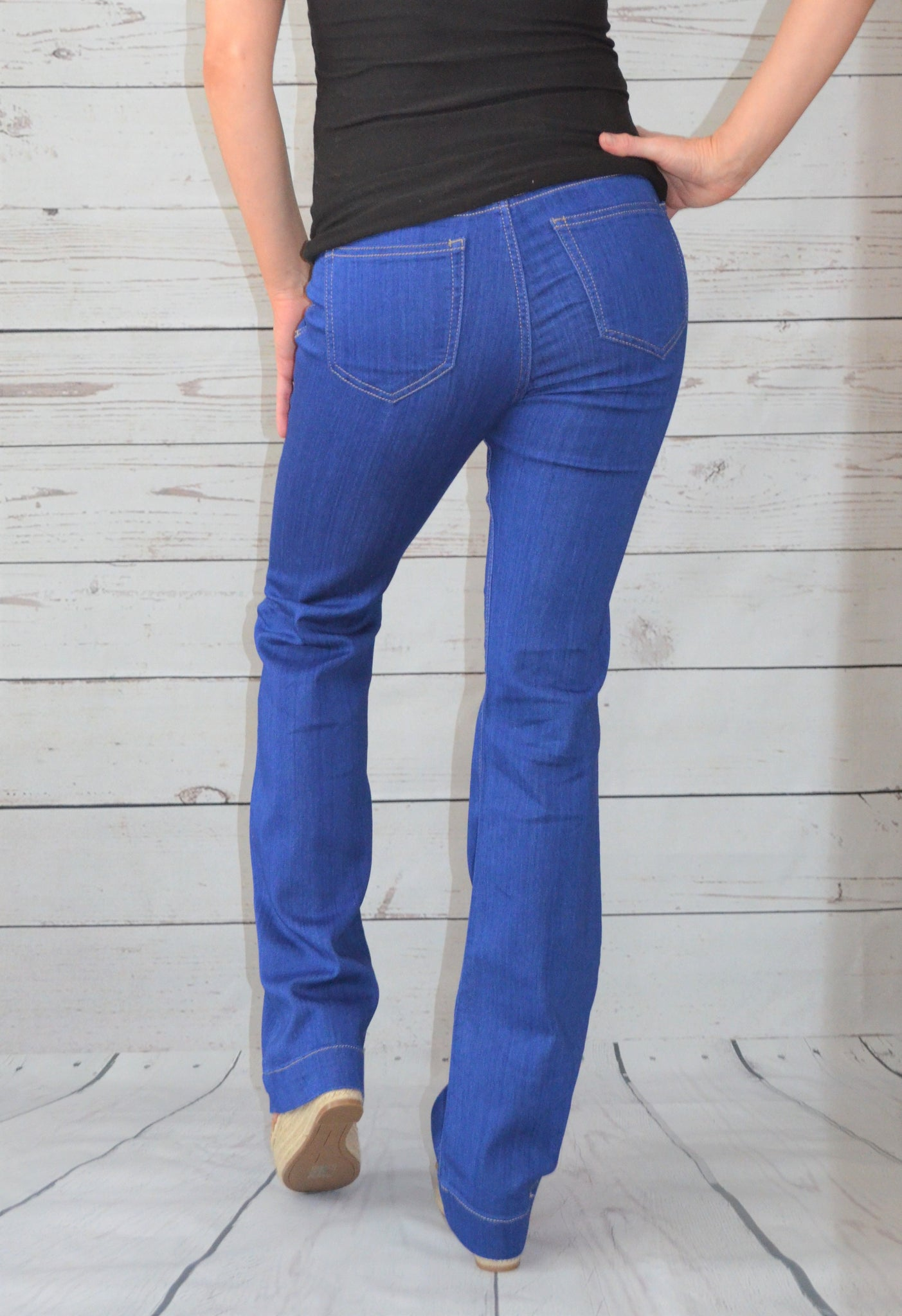 Life's Full of Flare High Rise Jeans - Blue