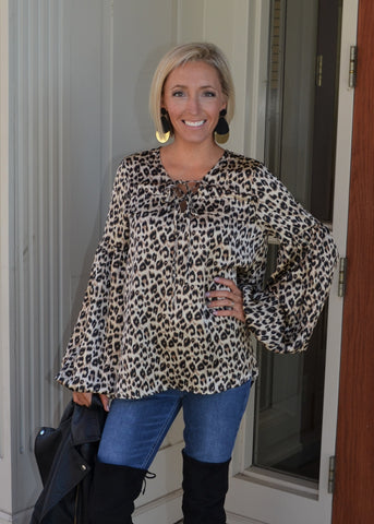 Fashionably Fierce Leopard Top