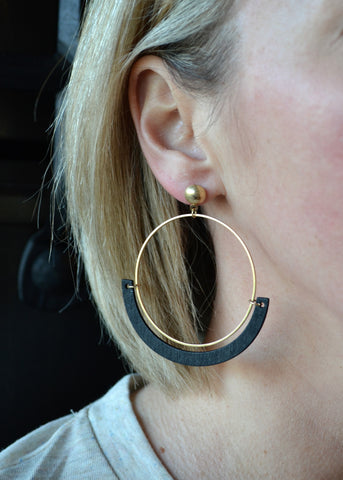 Hoops of Fun Earrings - Black