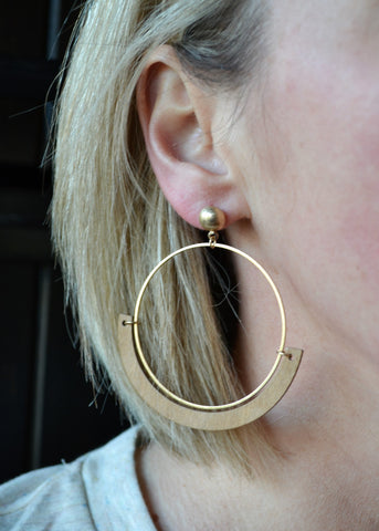 Hoops of Fun Earrings - Natural