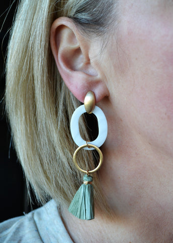Play it by Ear Earrings - Green