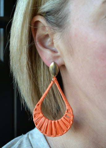 Summer's Calling Earrings - Orange