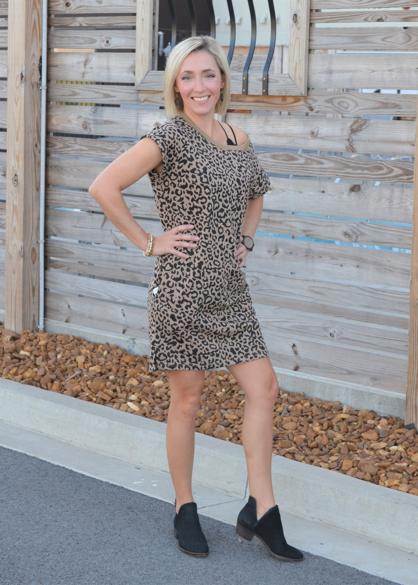 Set the Pace Leopard Dress