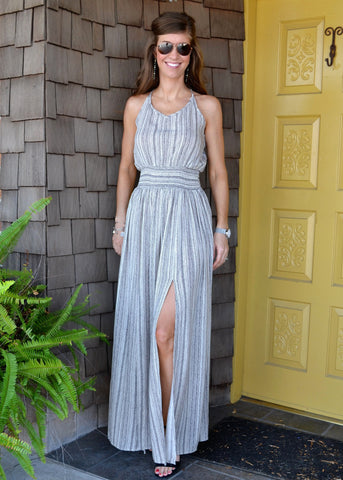 Neutral Elegance Maxi Dress