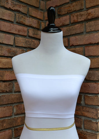 Basic Bandeau Bra - White
