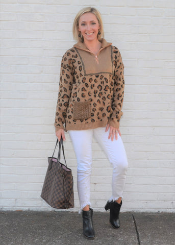 On the Prowl 1/4 Zip Sweater
