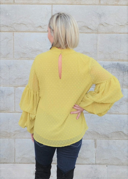 Beautifully Dramatic Mustard Top