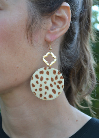 Spotted from Afar Cheetah Earrings
