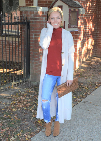 The Go To Long Cardigan - Cream