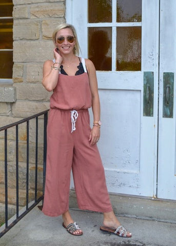 Tie it in a Bow Linen Jumpsuit