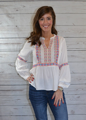 Classic Beauty Embroidered Top