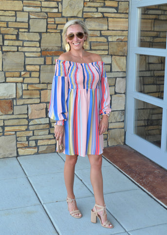 Dance the Night Away Striped Dress