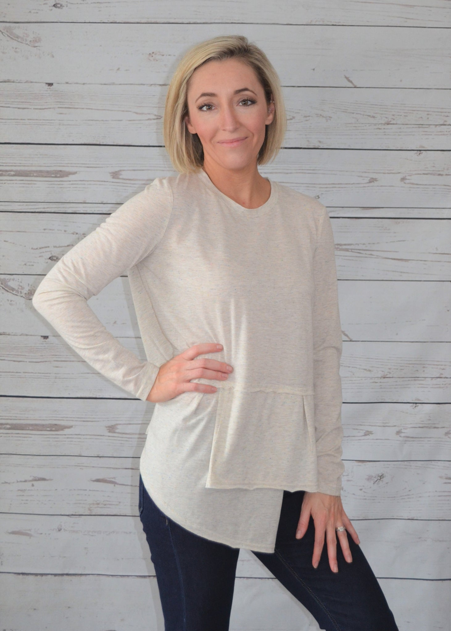 Meet Me at the Seams Asymmetrical Top