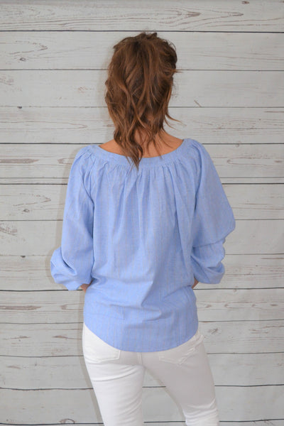 Slay the Day Chambray Blouse