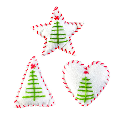 Image of Fabric-Christmas-Ornaments